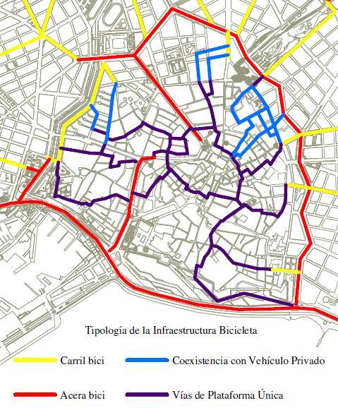 Proposta per a la mobilitat ciclista al casc antic de Palma
